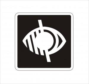 látássérülteket jelző logó