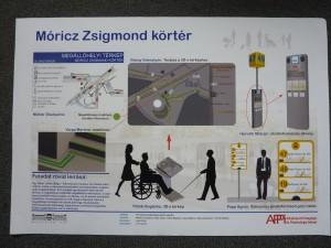 Móricz Zsigmond körtér akadálymentesített látványterve
