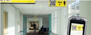 QR kód használata pl. folyosón útbaigazításhoz