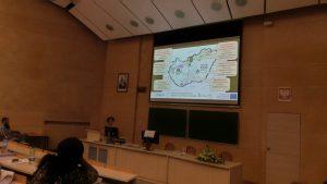 Előadás az Adam Mickiewitz Egyetem Biológia Karán (Szendi Zsuzsa, MABOSZ), Poznanban