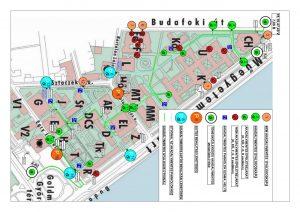 Az egyetemi campus akadálymentes kapcsolatainak térképe, 2015. forrás: ETIKK